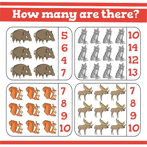 Сколько есть игры на счет для детей дошкольного возраста. посчитайте, сколько образовательная математическая игра.