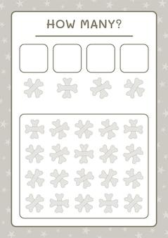 Сколько косточки, игра для детей. векторные иллюстрации, лист для печати