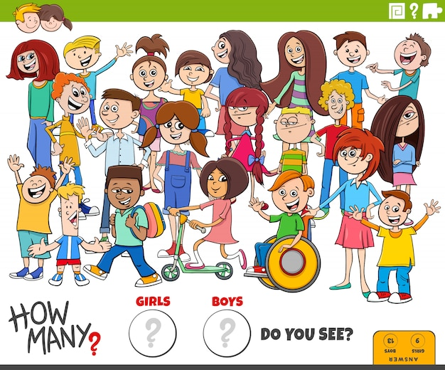 How many boys and girls educational task