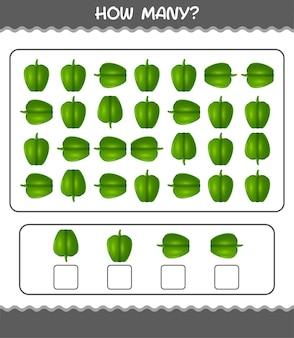 Сколько мультяшного болгарского перца. счетная игра. развивающая игра для дошкольников и малышей