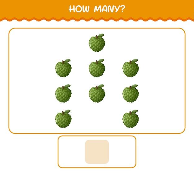 Сколько мультяшного заварного яблока. счетная игра. развивающая игра для дошкольников и малышей