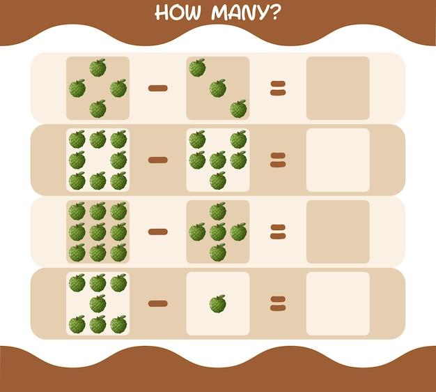 Сколько мультяшного заварного яблока. счетная игра. обучающая игра
