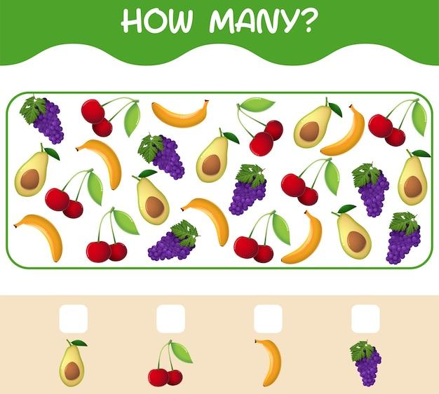 Сколько мультяшных фруктов