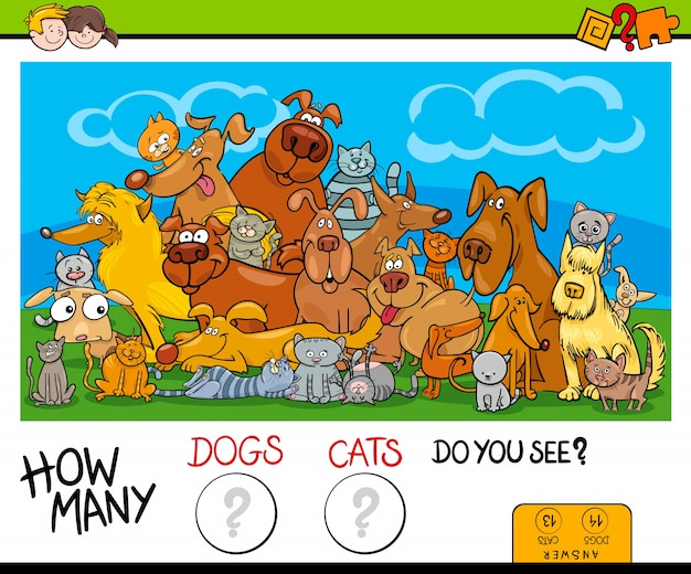 How many cats and dogs activity game