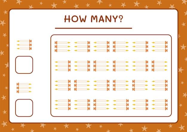 Сколько рождественских свечей, игра для детей. векторные иллюстрации, лист для печати