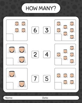Сколько счет в игре с арабским. рабочий лист
