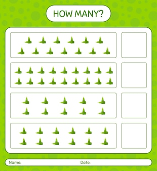 How many counting game with bamboo shoot. worksheet for preschool kids, kids activity sheet