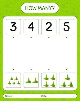 How many counting game with bamboo shoot. worksheet for preschool kids