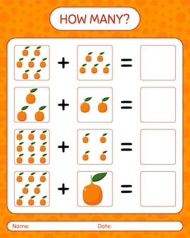 How many counting game with imbe. worksheet for preschool kids, kids activity sheet, printable worksheet