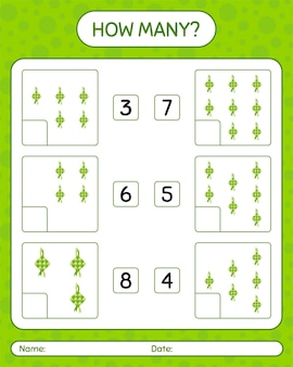 How many counting game with ketupat. worksheet