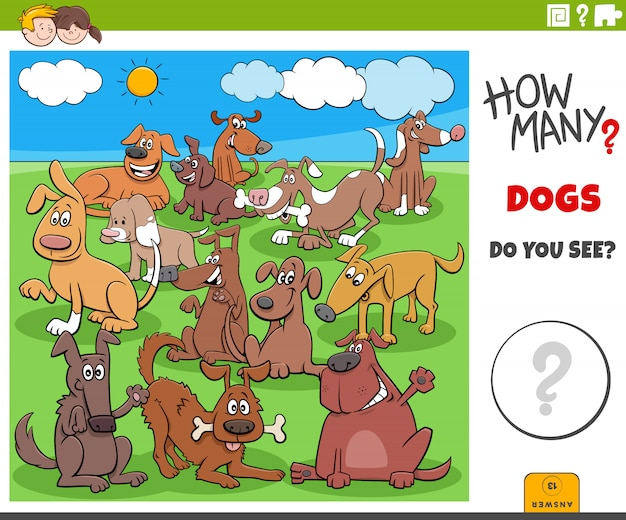How many dogs educational task for children