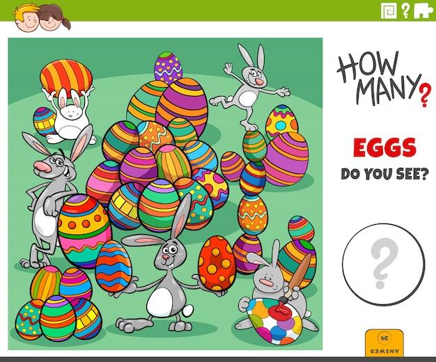 How many easter eggs educational task for kids
