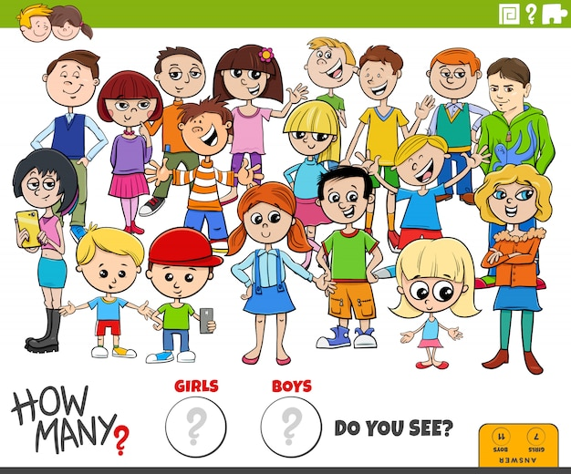 How many girls and boys educational task