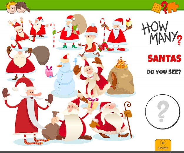 How many santa claus characters game for kids