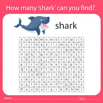 How many 'shark' can you find