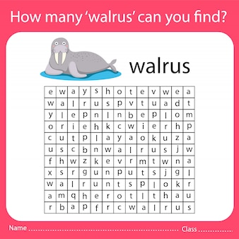 How many 'walrus' can you find