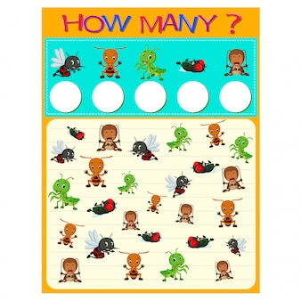 How many worksheet with many insects