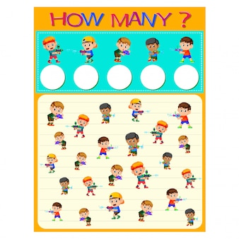 How many worksheet with many kids