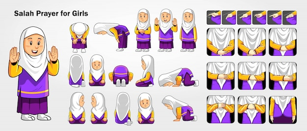 How to perform salah for girls and women.