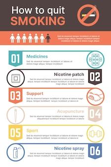 Come smettere di fumare - infografica