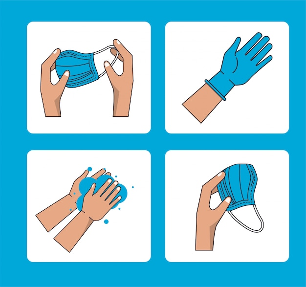 How to remove the surgical mask  infographic