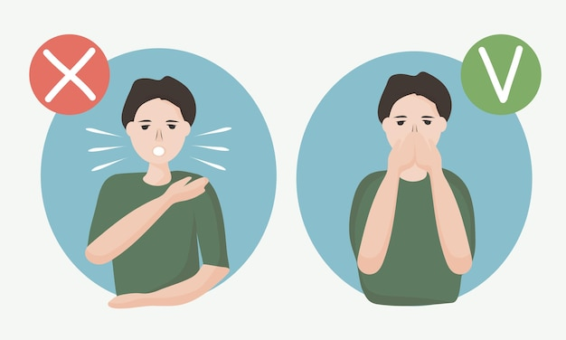 How to sneeze or cough correctly to prevent the spread of viruses