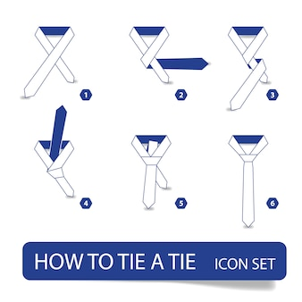 How to tie a tie, instructions step by step