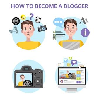 Как стать хорошим блогером инфографика