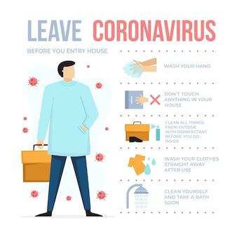 Как оставить коронавирус, когда вы вернетесь домой инфографики