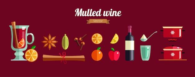 グリューワインのインフォグラフィックコンセプトの作り方