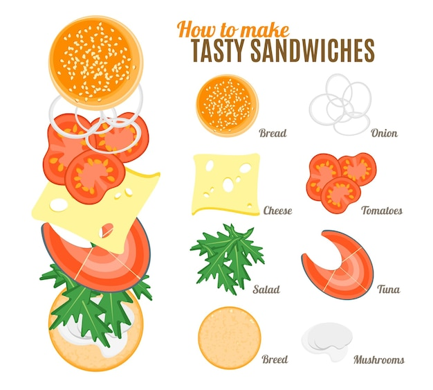 Как приготовить вкусные бутерброды с рыбой постер