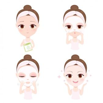 顔をマスクする方法