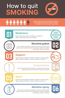 Как бросить курить - инфографика
