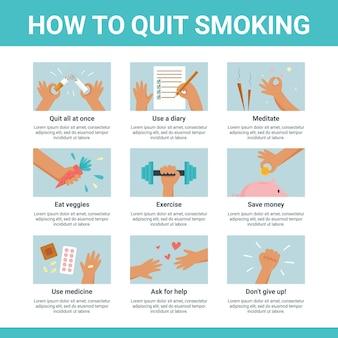 喫煙をやめる方法-インフォグラフィック