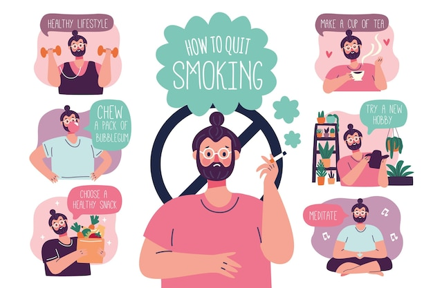 금연 방법-인포 그래픽