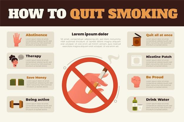 インフォグラフィックの喫煙をやめる方法