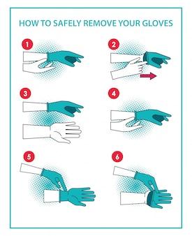 手袋のインフォグラフィックを削除する方法