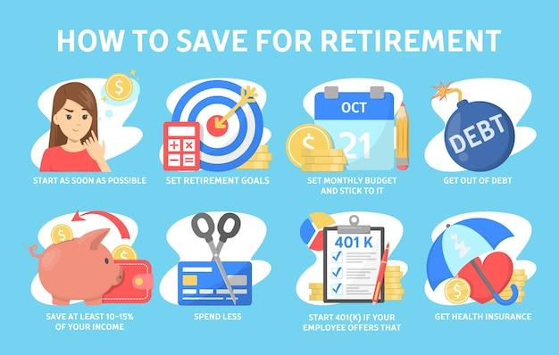 退職金を節約する方法、財務上のヒント