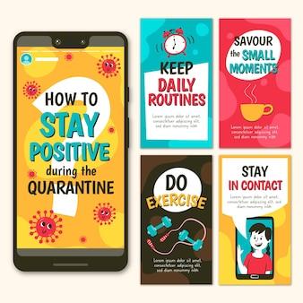 コロナウイルスインスタグラムストーリー中にポジティブを保つ方法