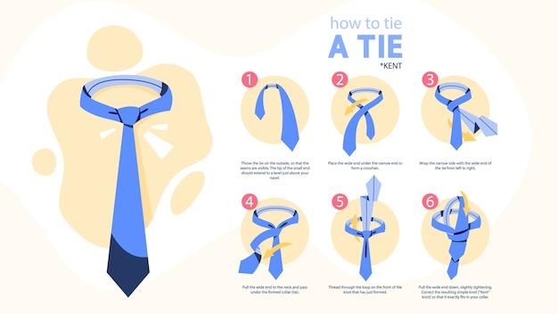 タイ命令を結び付ける方法。ネクタイの作り方