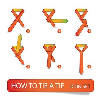 ネクタイの結び方、ステップバイステップの指示