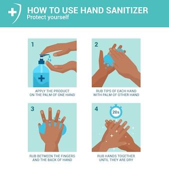 手の消毒剤の使い方
