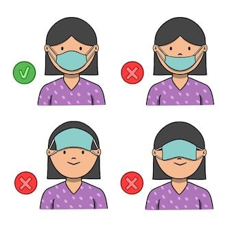 Как правильно и неправильно носить маску для лица