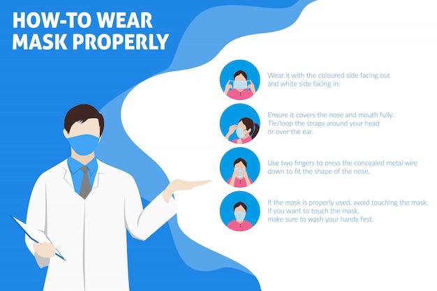 マスクを正しく着用する方法