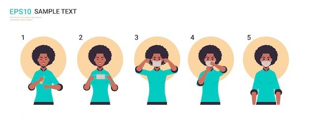 Как правильно носить медицинскую маску для лица covid-19, шаг за шагом, правильный способ ношения маски.