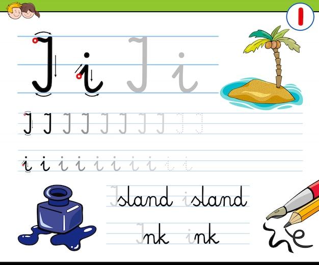 子供のための手紙を書く方法 Premiumベクター