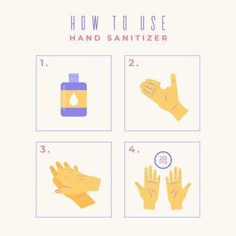 How to use hand sanitizer infographic