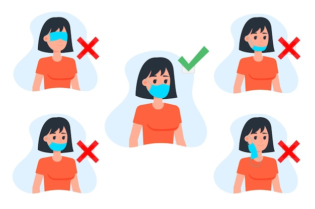 How to wear a face mask right and wrong