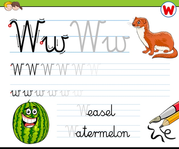 How to write letter w