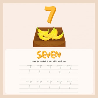 How to write number seven worksheet